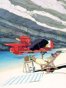 Porco Rosso (Kurenai no Buta), realise par Hayao Miyazaki en 1992